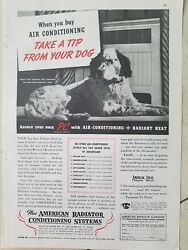 1935 American Radiator Co Air Conditioning radiant heating Spaniel dog tip ad $9.99