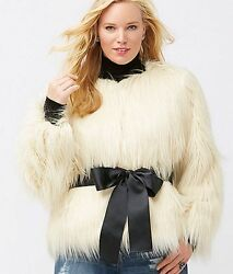 HELP SAVE RESCUE DOGS CANCER❤️$220 Lane Bryant (Faux fur) jacket NWT1820❤️