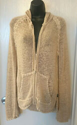 HELP SAVE RESCUE DOGS CANCER❤️BCBG MAXAZRIA cardigan sweater Size L NWOT❤️