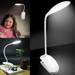 14LED Flexible Reading Light Clip on Clamp Bed Table Desk Lamp Touch Sensor $10.28