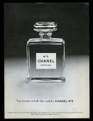 1973 Chanel No.5 perfume bottle photo You Know What She Wants vintage print ad