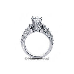 2.30ct tw JVS2Ideal Round AGI Certified Diamonds White Gold Classic Ring 5.2mm