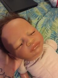 reborn baby girl comes with large box opening she is cloth and vinyl