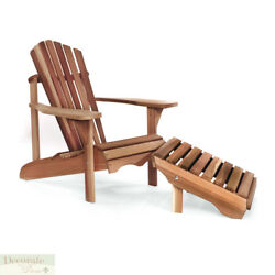 Adirondack Chair Ottoman Set Red Cedar Crafted *Contoured Seat *Comfort Back New