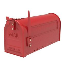 Extra Large Capacity Iron Post Mount Mailbox Outdoor Letter Storage Rural Style $21.99