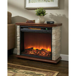 Lifesmart  FP1136 NA Faux Stone Accent Infrared Fireplace Heater *FAIR*