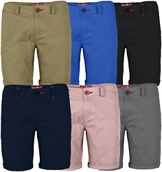 Mens Stretch Shorts Casual Wear Chino Flat Front Slim Fit Half Pants $14.44