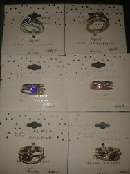 LOT OF  6 LC Lauren Conrad Girl  mix  Rings  orig $14 NEW Size 7