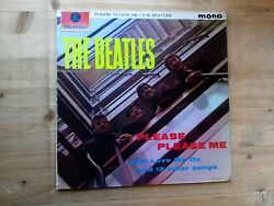The Beatles Please Please Me Black & Gold 1st Press Vinyl Record PMC 1202 Mono