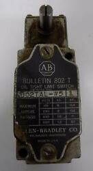 ALLEN BRADLEY OIL TIGHT LIMIT SWITCH 802TAL W5 SER. 1 $28.49
