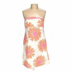 Tommy Hilfiger Women's  Dress size 16  white orange pink  cotton
