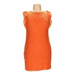 London Times Women's  Dress size 16  orange  cotton nylon polyester