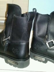 mens black leather harley boots size 13 $150.00