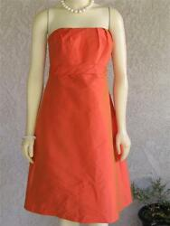 NEW SZ 8 Alfred Sung 434 CORAL ORANGE PROM PARTY DRESS FIESTA