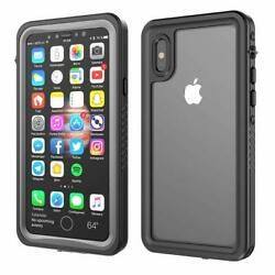 For Apple Phone XS X Waterproof Case Shockproof Underwater with Screen Protector $15.89