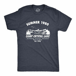 Mens Summer 1980 Men Funny T shirt Graphic Camping Vintage Cool 80s Novelty Tees $11.99