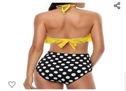 Bathing Suit With Polka Dot Bottoms