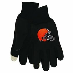 NFL Technology Touch Screen Tips Utility Work Gloves Football Cleveland Browns $3.99