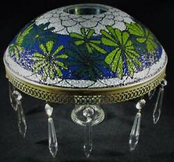 Retro Textured Glass Table Lamp Shade 70s Hippie Flower Child 2 15 16quot; Center $75.50