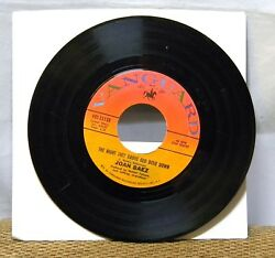 JOAN BAEZ  THE NIGHT THEY DROVE OLD DIXIE DOWN 45 RPM RECORD