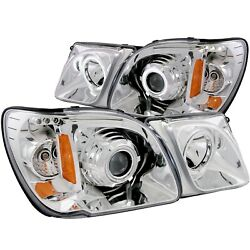 Anzo USA 111169 Projector Headlight Set wHalo Fits 98-07 LX470