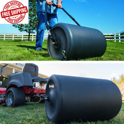 Poly Tow Behind Lawn Roller Push Yard Grass Tractor Attachment 18