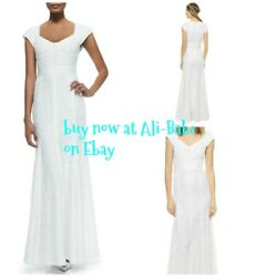 Diane Von Furstenberg white lace wedding gown maxi dress US 10 NWT Maio mermaid