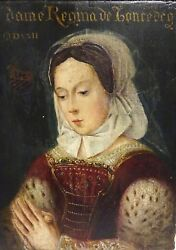 16th Century European Old Master Court Lady Portrait As Sybil In Prayer
