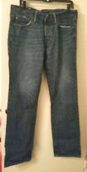 HELP RESCUE DOGCANCER❤️Abercrombie & Fitch jeans Distressed look 3234 NWOT