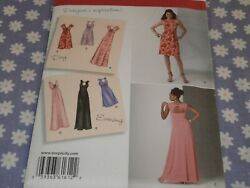 SIMPLICITY 1612 WOMEN#x27;S PLUS DRESSES 2 LENGTHS VARIATIONS PATTERN UNCUT 20W 28W $7.99