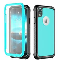 iPhone XR Case 360 Full Body Rugged Cover with Built-in Screen Protector
