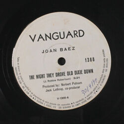 JOAN BAEZ: The Night They Drove Old Dixie Down  When Time Was Stolen 45 (Brazi
