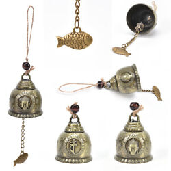 buddha statue pattern bell blessing feng shui wind chime for good luck fortuneWD
