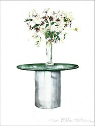 Butler Steltemeier  812 x 11 Print Vase On A Table Numbered Ready To Frame