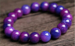 68101214mm Natural Purple Sugilite South Africa Round Bead Bracelet 7.5''AAA