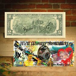 RISE OF SKYWALKER - Star Wars IX $2 US Bill Banksy Pop Art HAND-SIGNED by Rency