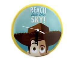 "Hallmark Toy Story Woody REACH FOR THE SKY 8"" Metal Clock $24.95"