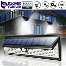 118 LED Solar Lamp Outdoor Garden Yard Waterproof PIR Motion Sensor Wall Light