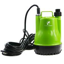 1/4 HP Portable Submersible Utility Pump with 1500 GPH Flow for Water Removal $45.99