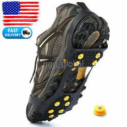 Ice and Snow Traction Cleats Slip on Stretch for Snow Ice Spikes Crampons $8.99