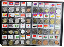 Lots 180 countries Regions World Coins money with flag Collections book album