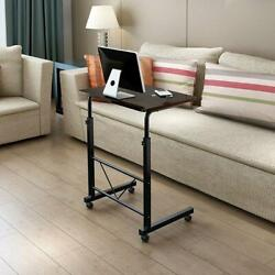 Portable Office Laptop Desk Rolling Adjustable Table Cart Computer Mobile Stand $34.99