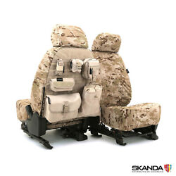 NEW Custom-Fit Multi-Cam Arid Camo Tactical Seat Covers wMOLLE Back USA-MADE