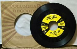 THE FOUR LADS PUT A LIGHT IN THE WINDOW  THE THINGS WE DID LAST SUMMER 45 RPM