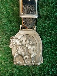 Antique Advertising Horse Team Hoover's Peru  Illnois Watch Fob