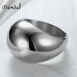 MENDEL Art Deco Fashion Mens High Polished Ring Band Stainless Steel Size 8 13 $11.99