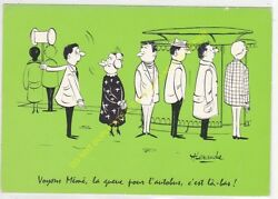 CP Humor Illust. Alexandre See Curlers Rollers Granny Fancy the Tail for L' Bus