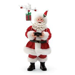 Dept 56 SANTA CLAUS DRONE DELIVERY Christmas Figure 11quot; Tall Airplane Gift Decor $48.00
