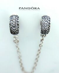 Authentic Pandora Silver 925 PAVE Inspiration SAFETY CHAIN Charm791736 $24.99