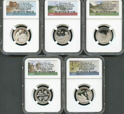 2019 S First .999 Fine Silver 25C Set From 10-Coin Silver Set FR NGC PF70 U.C. P